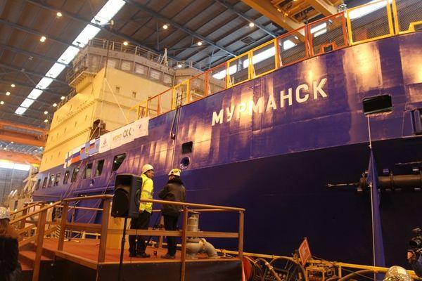 На финской верфи недавно был построен ледокол «Мурманск»
